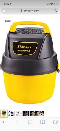 black and yellow Stanley vacuum cleaner Springfield, 22153