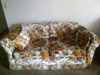 white and brown floral 2-seat sofa Rochester, 55906