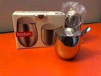 BODUM - stainless steel SUGAR & CREAMER SET  35 km
