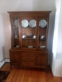 China cabinet with dishes