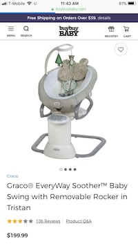 Baby's gray and white cradle and swing Altamonte Springs, 32714