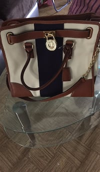 Brown and red leather 2-way handbag Chicago, 60634