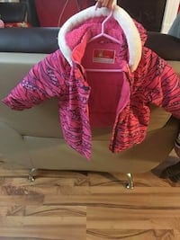 Good condition snow suit for girl 24 months. Smoke and pet free