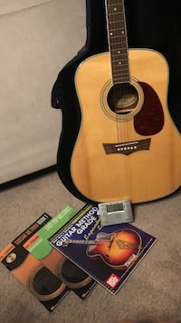 brown and black acoustic guitar Rockville, 20852