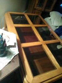 Brown beveled glass coffee  table $30. Not sold Wichita