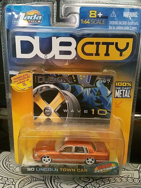 Used orange jada toys dub city 90 lincoln town car for sale in ...