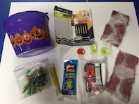 Misc Halloween items makeup glow stick and glow mouth piece.  3 rings that light up also $5 lot Saginaw, 48604