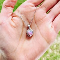 Heart Pink Opal Necklace Calgary, T3N 0M4