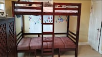 brown wooden bunk bed frame Whitefish Bay, 53211