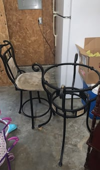 Bar stool and table just need to find glass to go on top.