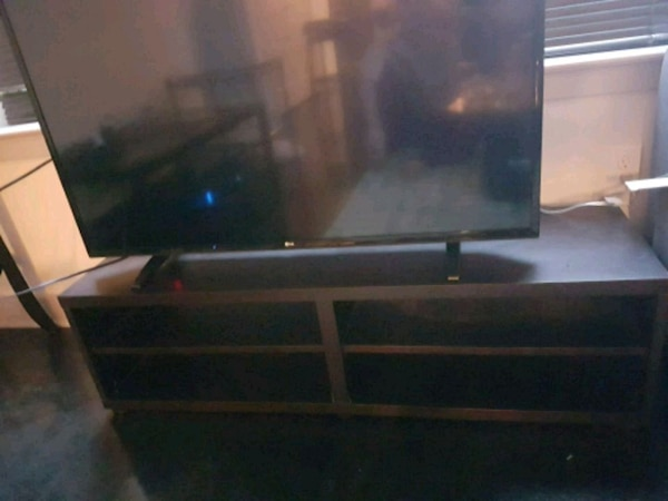 TV stand dark brown/black