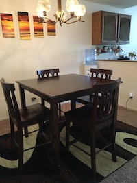 Dark brown table and chairs, rarely used less than six months old  Las Vegas, 89121
