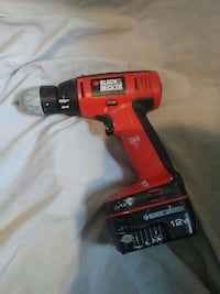 red Black and Decker cordless hand drill