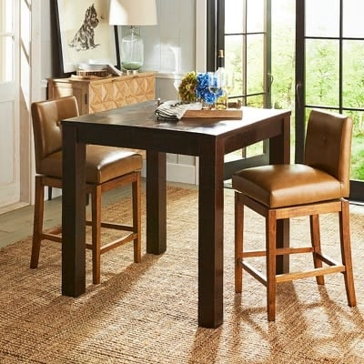 Pier 1 modern counter table and 4 bar stools set