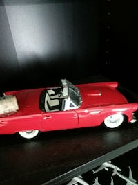 red convertible car die-cast scale model