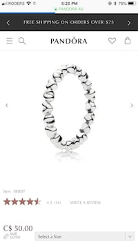 Pandora forever love ring  Calgary, T3L 1X2
