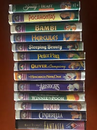 13 Disney VHS cartoon collection movies