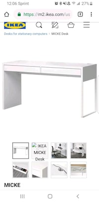 IKEA white Micke desk  Arlington, 22209