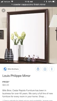 brown wooden framed Louis Philippe mirror screenshot