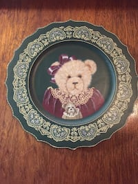 Hand painted wooden bear plate Orillia, L3V