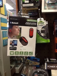 red and black Bluetooth stereo earbuds with Mic box Hagerstown, 21740