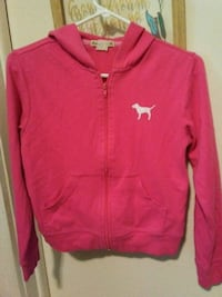 PINK zip up jacket hoodie. Size XS.