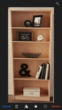 Brand new wood bookcase