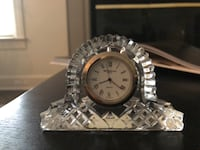 Miniature Waterford Crystal clock