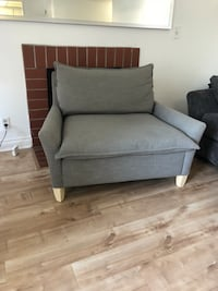 Gray fabric sofa chair with ottoman Los Angeles, 90291