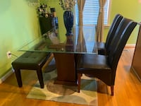 Glass Dining Set including Chairs Woodbridge, 22191
