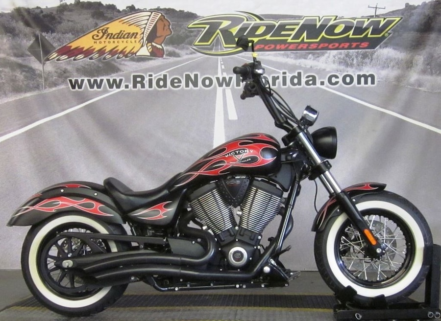 Photo 2014 Victory Motorcycles® High-Ball™ Suede Black with Flames