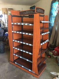 brown and gray wooden rack