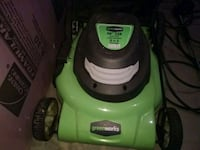 Green works electrical  mower