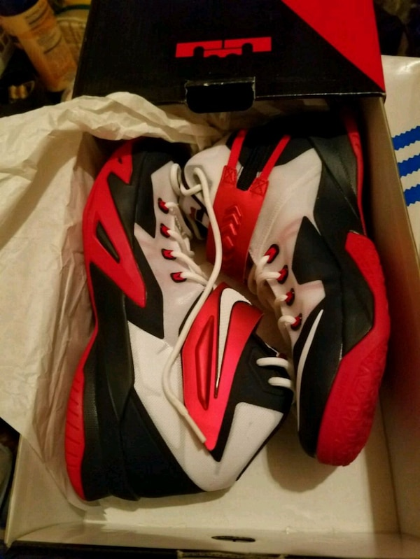 0547c794a Used pair of red-and-white Nike basketball shoes for sale in Staten Island