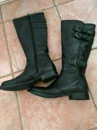 Ladies sz 6.5 'BORN' blk.leather boots Maple Ridge, V2X 6B9