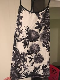 black and white floral camisole top