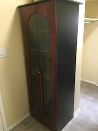 brown wooden framed glass cabinet Whitby, L1N 8B8
