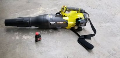 gas leaf  blower like new