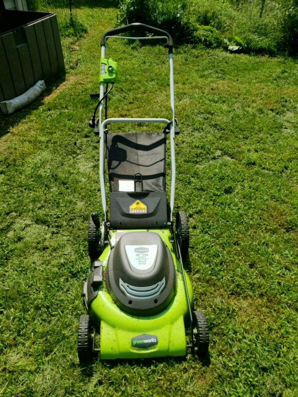 Used Greenworks 20 12a Corded Electric Lawnmower For In North Arlington Letgo