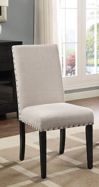(1) New Mainstays Upholstered Dining Chair- Taupe