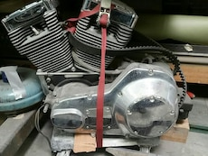 chrome and gray motorcycle engine