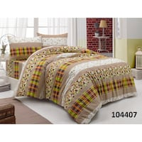 white and brown bed sheet set London