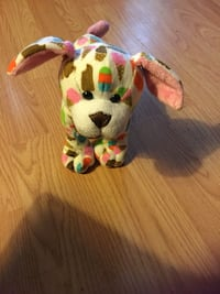 white, red, and green dog plush toy York, 17403