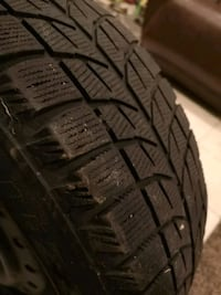 """Set of 4 15"""" winter tires and rims Mississauga, L5H 1L4"""