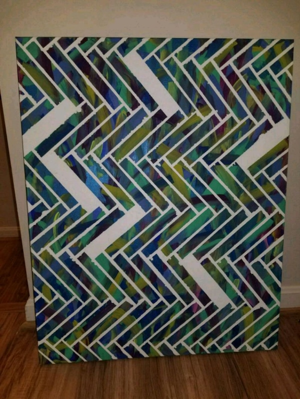 Trippy Pattern Hand Painted Canvas