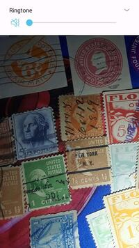 assorted-color postage stamp lot Macon