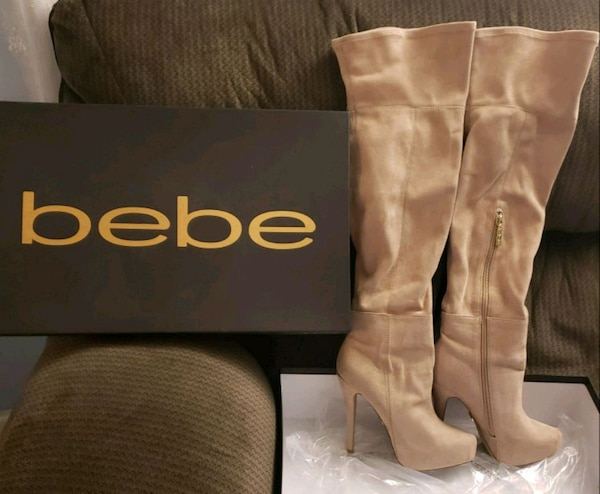 Bebe -Rihanna suede boots, size 6
