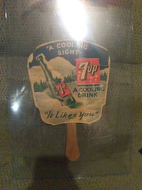 Rare 1940s 7up advertising fan Hedgesville
