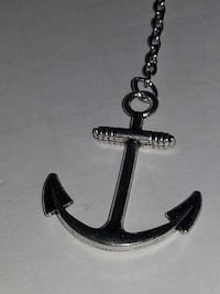 You are My Anchor Silver Necklace fashion jewelry Sailing boat captain Rockville