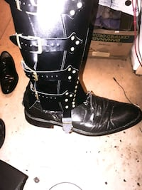 Brand New Genuine Leather Black Cosplay Gaiters (shoes not included)